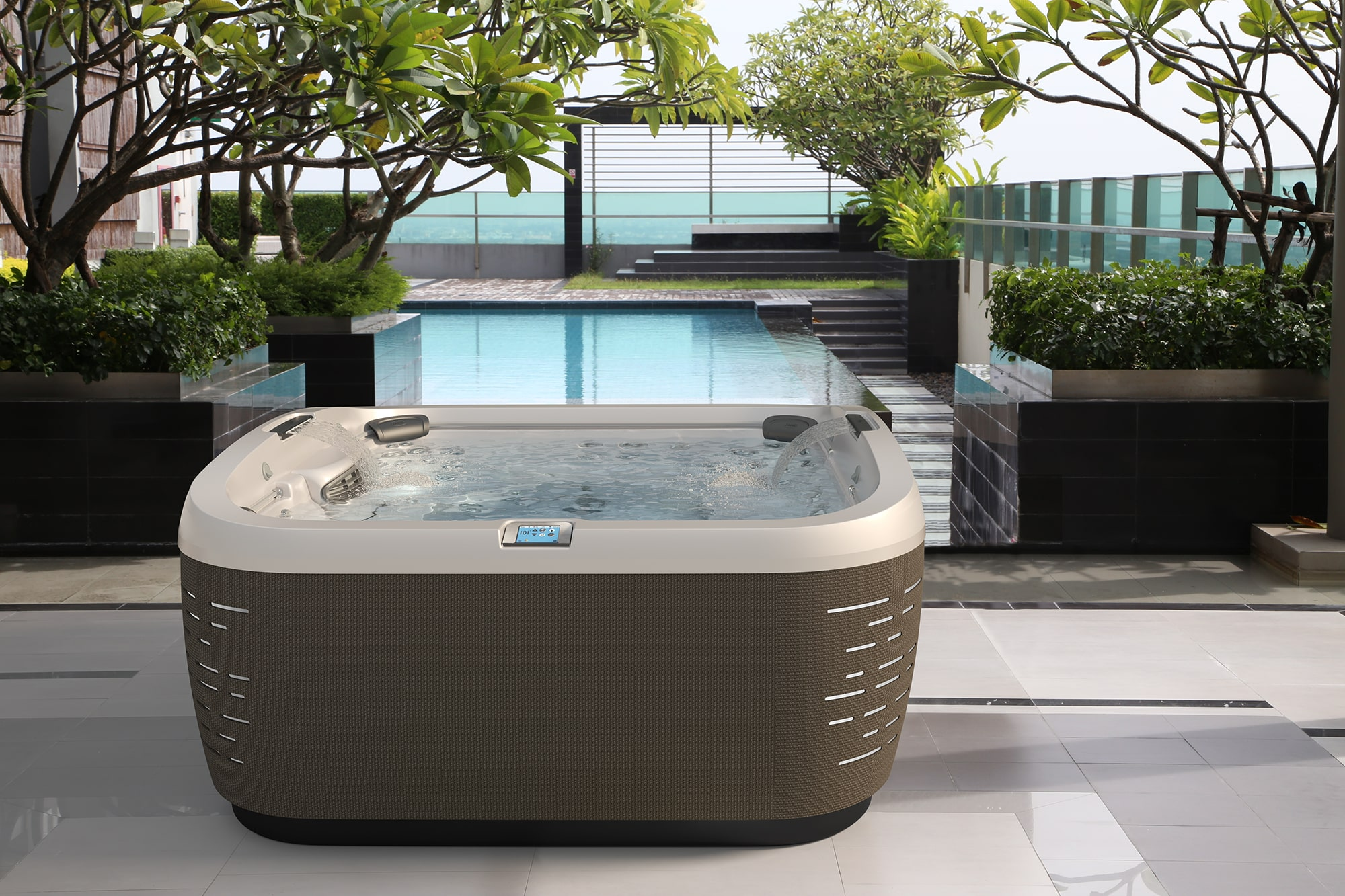 J-585 Jacuzzi Hot Tub installation in Ontario