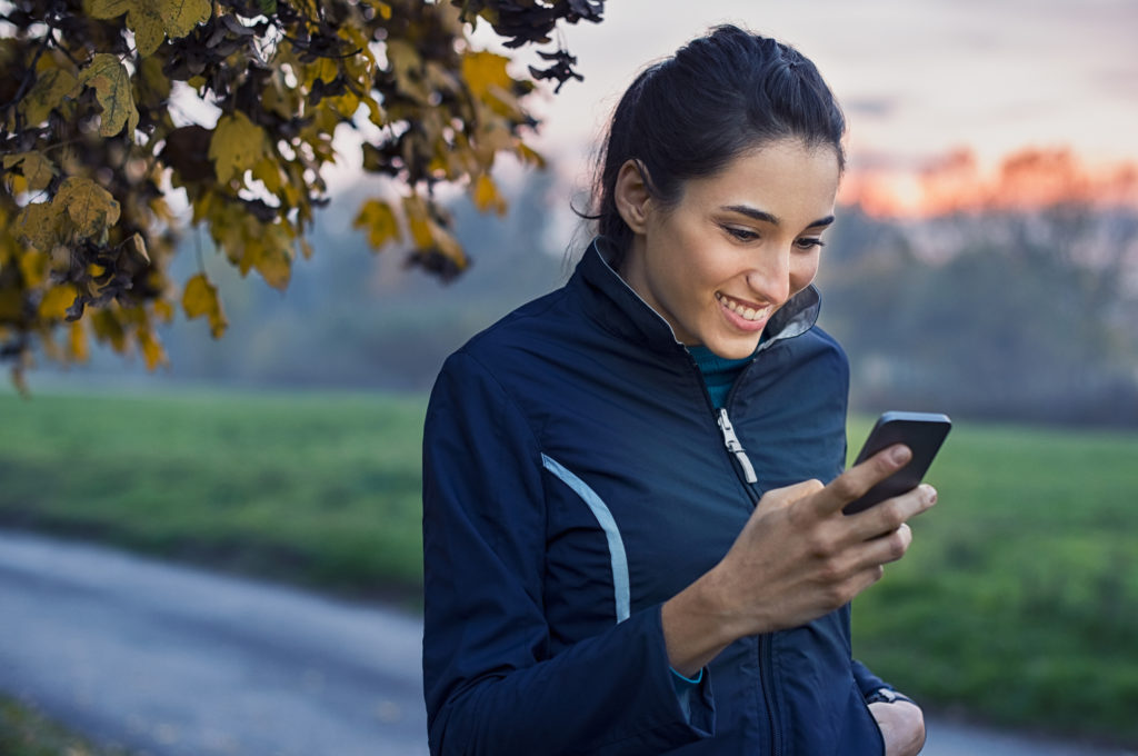Healthier Lifestyle - women using app
