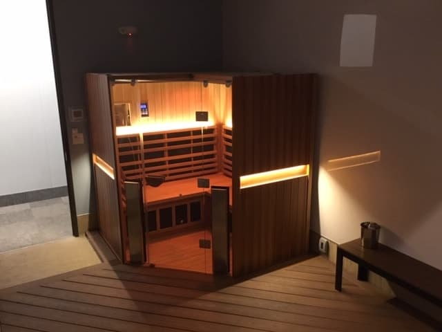 Corner sauna for up to 4 people sold to family in oakville