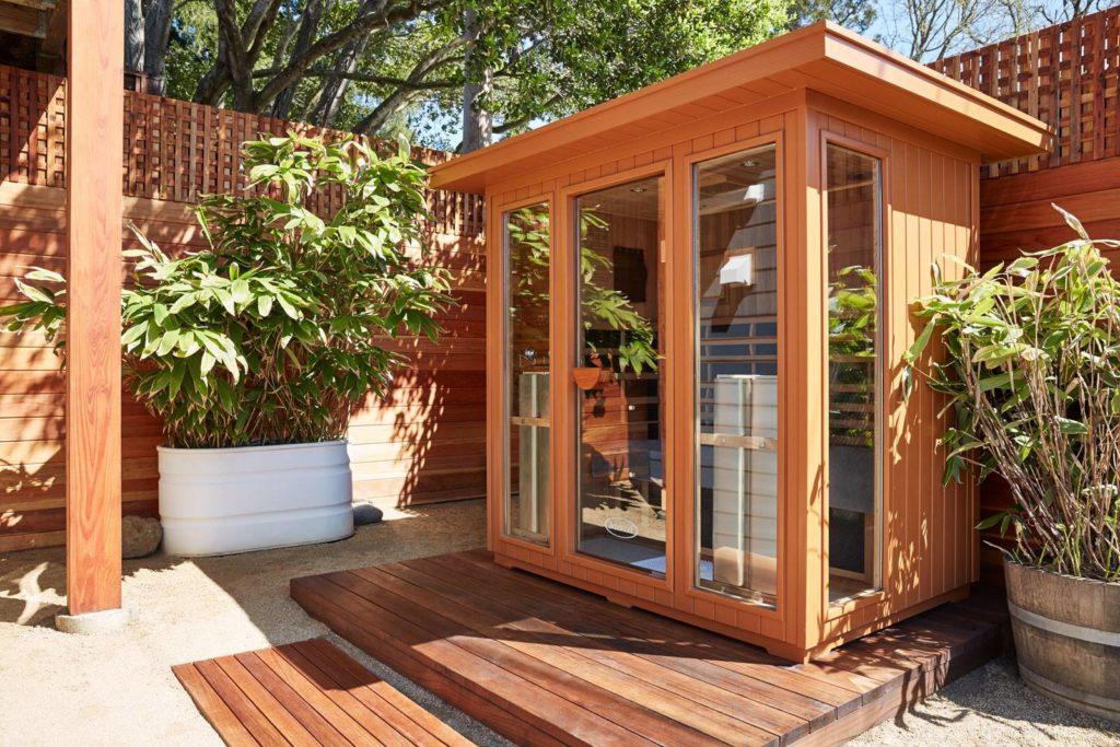 Outdoor Jacuzzi Sauna Installation in an Ancaster Backyard