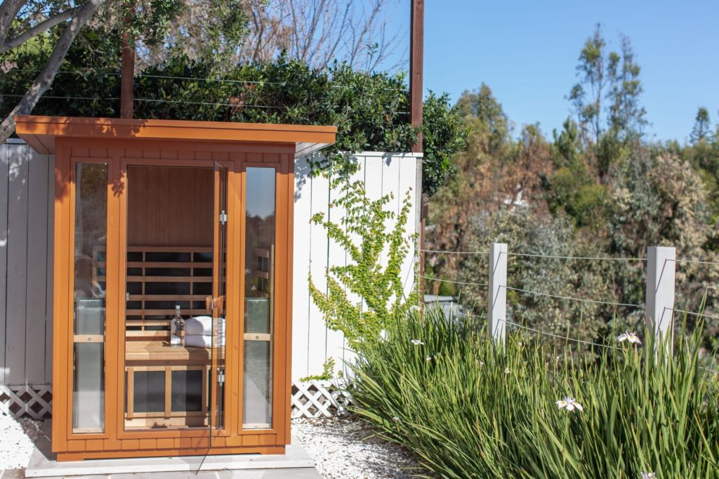 Beautiful Outdoor Sauna Installation in a Grimsby Backyard