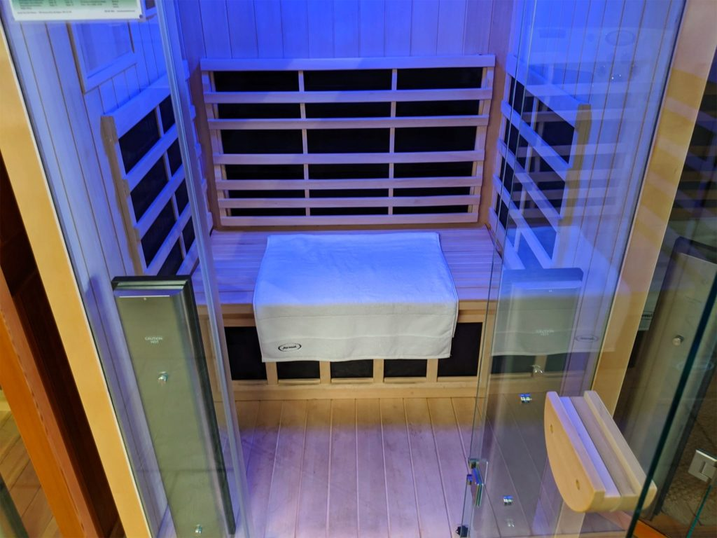 Sauna Light Therapy in a London Home