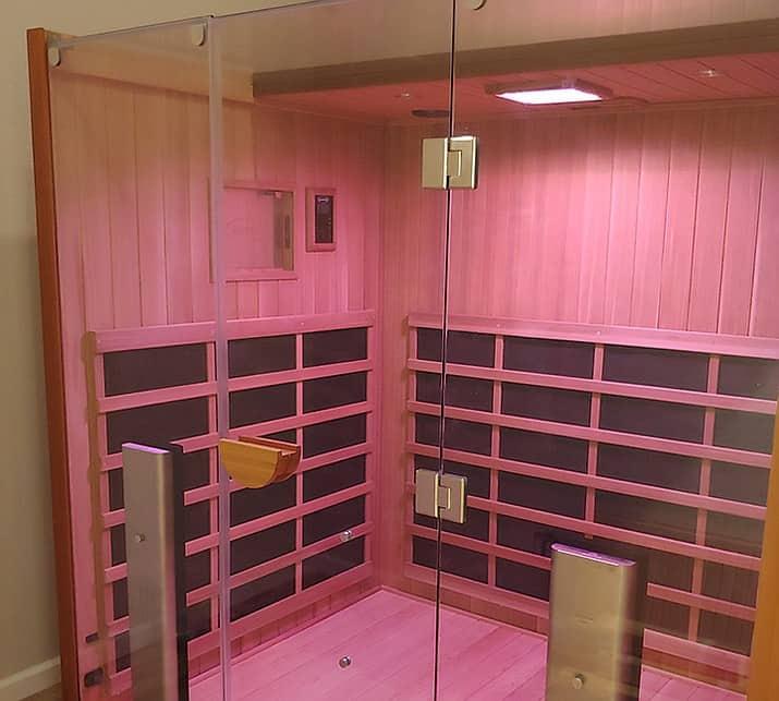 Jacuzzi sauna for hot yoga in Burlington home near Millcroft Shopping Centre