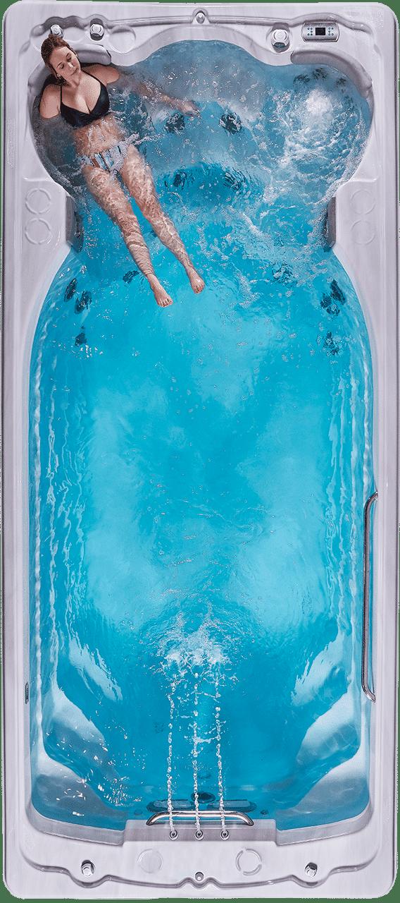 Swimlife all season pool with women in spa
