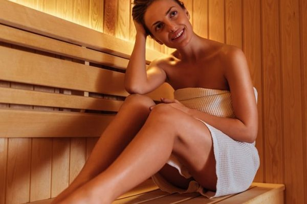 woman in sauna Ontario